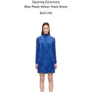 Opening ceremony plush velour dress